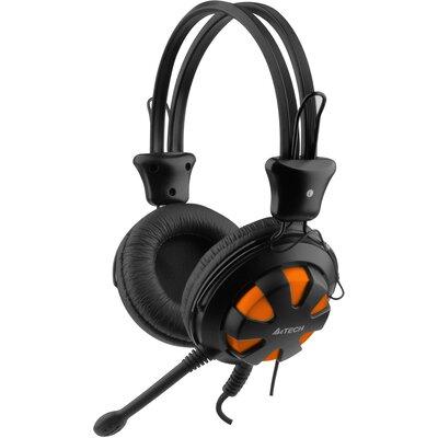 Слушалки с микрофон A4Tech HS-28, Черен/Оранжев