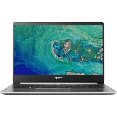 "Лаптоп Acer Swift 1 SF114-32-P3J2 - 14"" FHD IPS, Intel Pentium Silver N5000, Sparkly Silver"