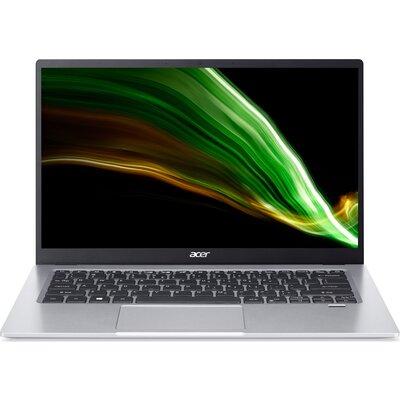 "Лаптоп Acer Swift 1 SF114-34-C8TY - 14"" FHD IPS, Intel Celeron N5100, Silver"