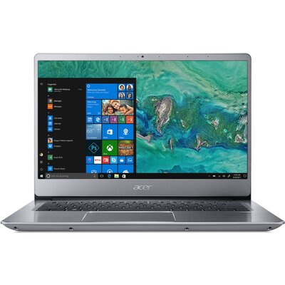 """Лаптоп Acer Swift 3 SF314-56G - 14"""" FHD IPS, Intel Core i5-8265U, Sparkly Silver"""