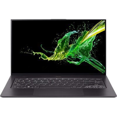 "Лаптоп Acer Swift 7 SF714-52T-71U2 - 14"" FHD IPS Touch, Intel Core i7-8500Y, Black"