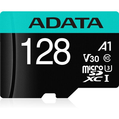 microSDXC карта ADATA Premier Pro 128GB UHS-I U3 V30S + SD адаптер