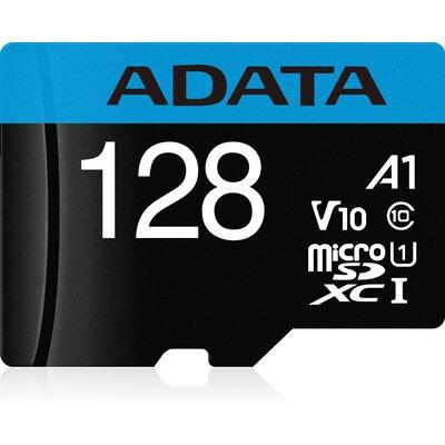 microSDXC карта ADATA Premier 128GB UHS-I A1 V10 + SD адаптер