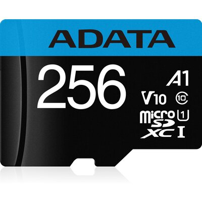 microSDXC карта ADATA Premier 256GB UHS-I A1 V10 + SD адаптер