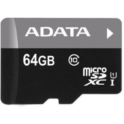 Micro SD карта ADATA Premier 64 GB + SD адаптер