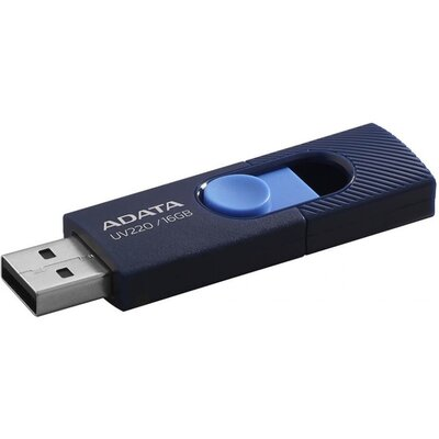 Флаш памет ADATA UV220 16GB - Navy Blue