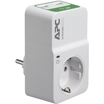 APC Essential SurgeArrest 1 Outlet 230V, 2 Port USB Charger, Germany - PM1WU2-GR