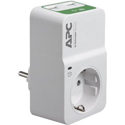 APC Essential SurgeArrest 1 Outlet 230V, 2 Port USB Charger, Germany - PM1WU2-GR