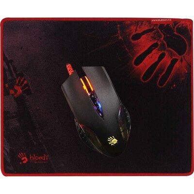 Геймърска мишка с подложка Bloody Q5081S Neon X'Glide BUNDLE