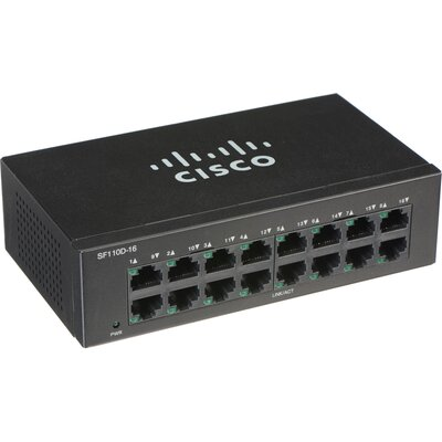 Суич Cisco SF110D-16 16-port 10/100 Desktop Switch
