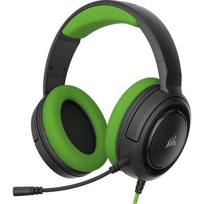 Геймърски слушалки с микрофон Corsair HS35 Stereo Gaming Headset — Green