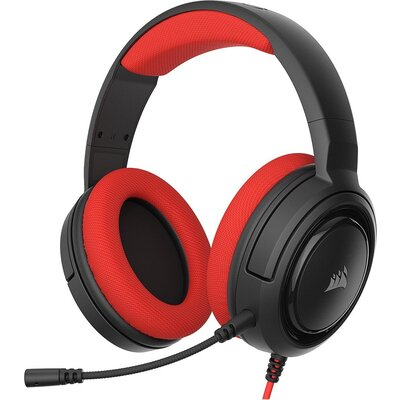 Геймърски слушалки с микрофон Corsair HS35 Stereo Gaming Headset — Red