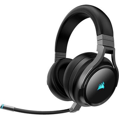 Безжичнни геймърски слушалки Corsair VIRTUOSO RGB WIRELESS High-Fidelity Gaming Headset - Carbon