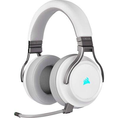 Безжичнни геймърски слушалки Corsair VIRTUOSO RGB WIRELESS High-Fidelity Gaming Headset - White