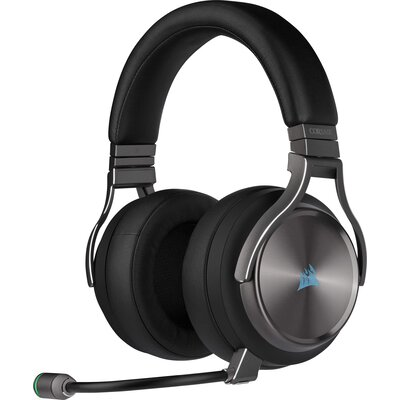 Безжичнни геймърски слушалки Corsair VIRTUOSO RGB WIRELESS SE High-Fidelity Gaming Headset - Gunmetal