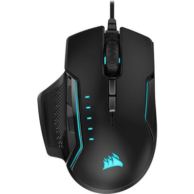 Геймърска мишка Corsair GLAIVE RGB PRO Gaming Mouse, Black