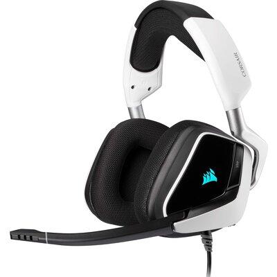 Геймърски слушалки Corsair VOID RGB ELITE USB White