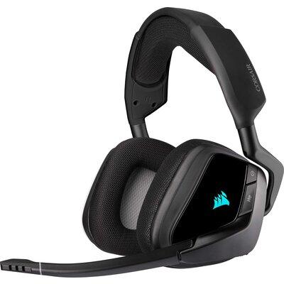 Безжични геймърски слушалки Corsair VOID RGB ELITE Wireless Carbon
