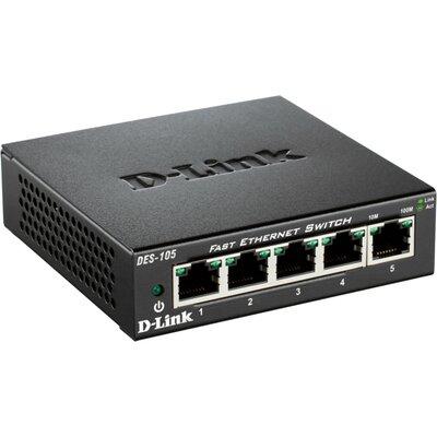 D-Link DES-105 - 5 портов неуправляем десктоп суич