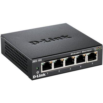 D-Link DGS-105 - 5-портовият неуправляем десктоп суич