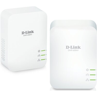 D-Link DHP‑601AV PowerLine AV2 1000 HD гигабитов стартов пакет