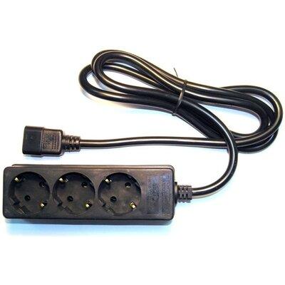 Разклонител Eaton 1 х IEC C14 - 3 х Shuko 10A