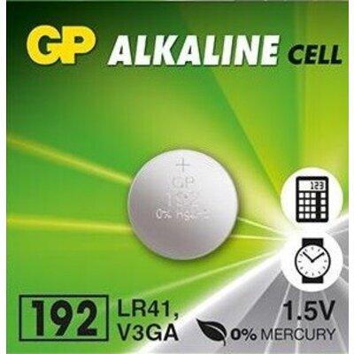 Бутонна алкална батерия GP192 LR-41 - 1.55V AG3 - цена за 1 бр.