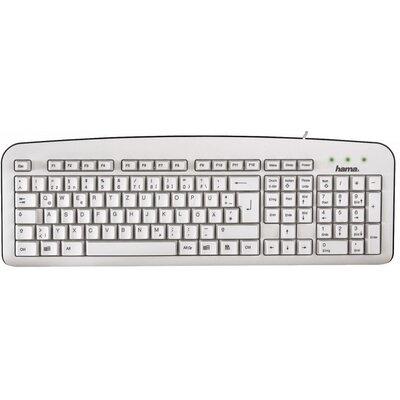 Стандартна клавиатура HAMA K210, Бяла