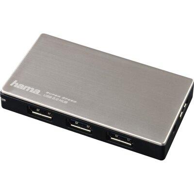 USB хъб със захранване HAMA, USB 3.0, 1:4, за ултрабуци/лаптопи