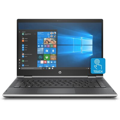 "Лаптоп HP Pavilion x360 - 14-cd0032nu - 14"" FHD IPS Touch, Intel Core i5-8250U, Natural Silver"