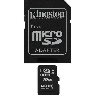 Micro SD карта Kingston 16 GB Class 4 + SD адаптер