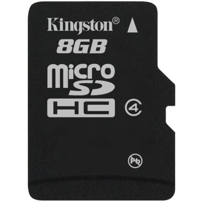 Micro SD карта Kingston 8 GB Class 4 + SD адаптер