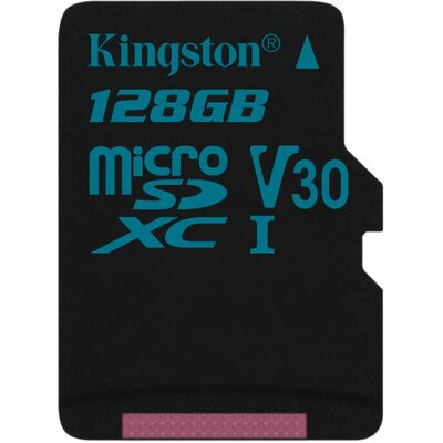 Kingston microSDXC Canvas Go 128GB + SD адаптер