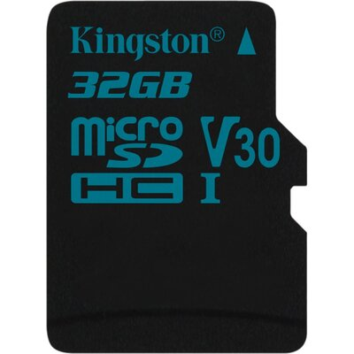 Kingston microSDHC Canvas Go 32GB + SD адаптер