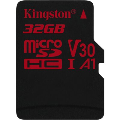 Kingston microSDHC Canvas React 32GB + SD адаптер