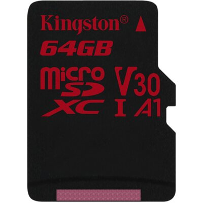 Kingston microSDXC Canvas React 64GB + SD адаптер