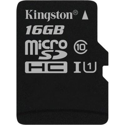 Kingston microSDHC Canvas Select 16GB + SD адаптер