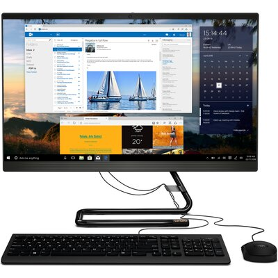 """Компютър Lenovo IdeaCentre AIO 3 24IMB05 - 24"""" FHD IPS, Intel Core i3-10100T, Business Black"""