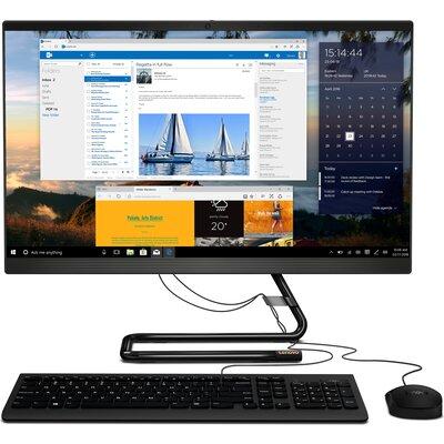 "Компютър Lenovo IdeaCentre AIO 3 24ARE05 - 24"" FHD IPS, AMD Ryzen 3 4300U, Business Black"