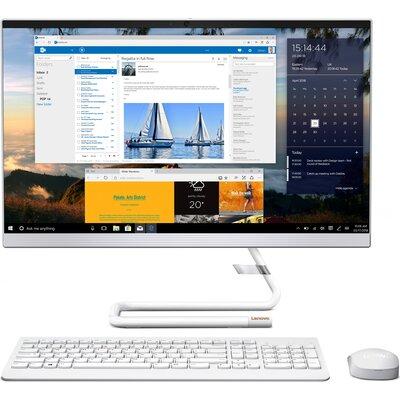 "Компютър Lenovo IdeaCentre AIO 3 24IMB05 - 24"" FHD IPS, Intel Core i3-10100T, Foggy White"