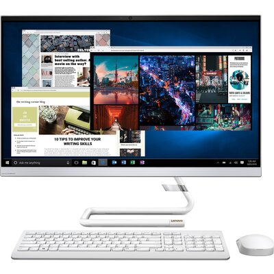 "Компютър Lenovo IdeaCentre AIO 3 27IMB05 - 27"" FHD IPS, Intel Core i5-10400T, Foggy White"