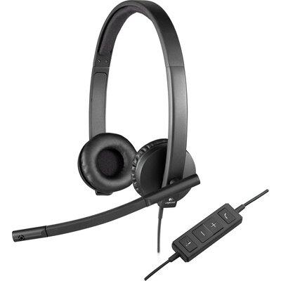 Слушалки с микрофон Logitech H570e Stereo