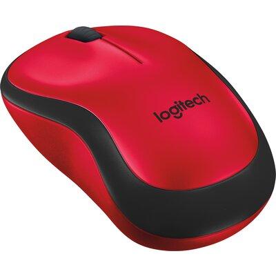 Безжична мишка Logitech M220 SILENT Red