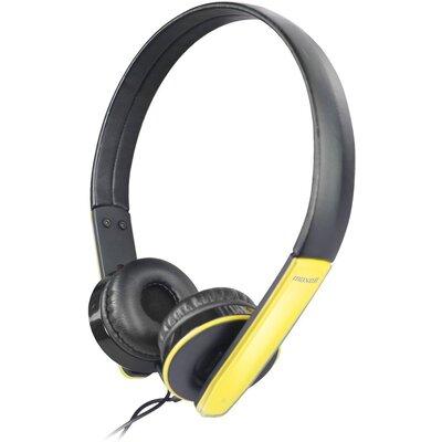 Слушалки Maxell HP MIC, Черен/Жълт