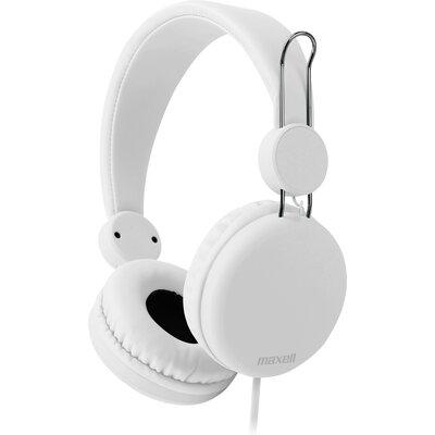 Слушалки с микрофон Maxell SMS-10S Spectrum, Бял