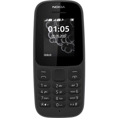 Телефон Nokia 105 TA-1010 (2017), черен
