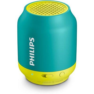 Портативна Bluetooth колонка Philips BT25A, цвят жълт/зелен
