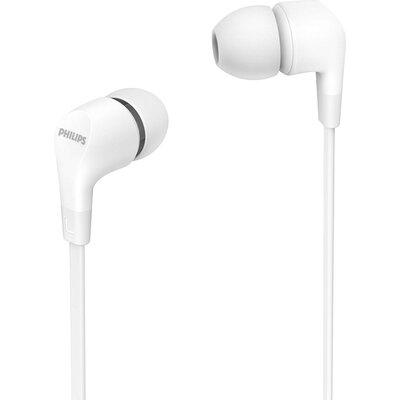 Слушалки тапи с микрофон Philips TAE1105WT, бели