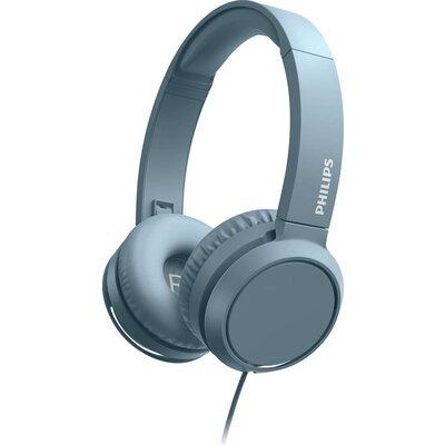 Слушалки с микрофон Philips TAH4105BL, сини