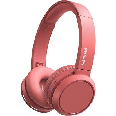 Bluetooth Слушалки Philips TAH4205RD, червени